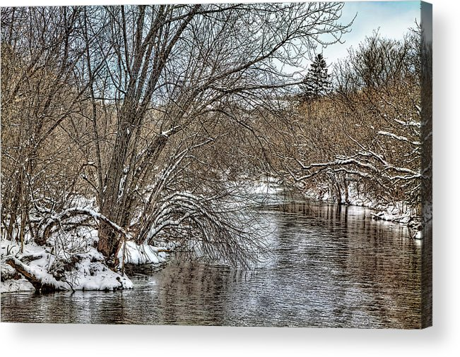 River Acrylic Print featuring the photograph Wintery River by Gary Smith