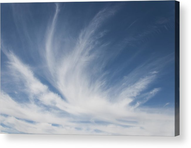 Air Acrylic Print featuring the photograph Wispy Cirrus by Ami Poindexter