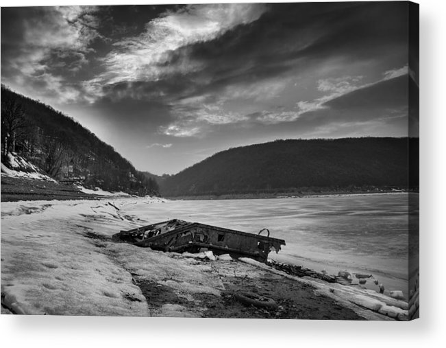 Lake Acrylic Print featuring the photograph Wreck On The Lake by Djordje Jovanovic