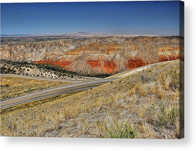 Flaming Gorge Acrylic Print featuring the photograph Wyoming Landscape by Nick Roberts