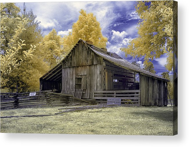 Faust Park Acrylic Print featuring the photograph Ye Old Stable by Emil Davidzuk