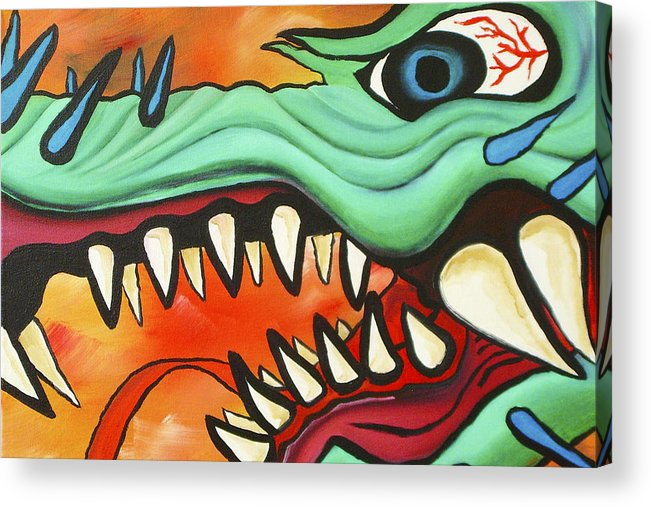 Dragon Acrylic Print featuring the painting Year Of The Dragon by Joseph Palotas