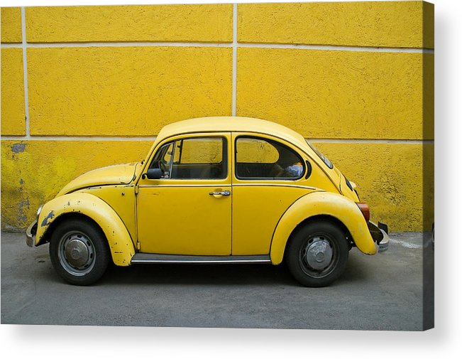 Yellow Acrylic Print featuring the photograph Yellow Bug by Skip Hunt