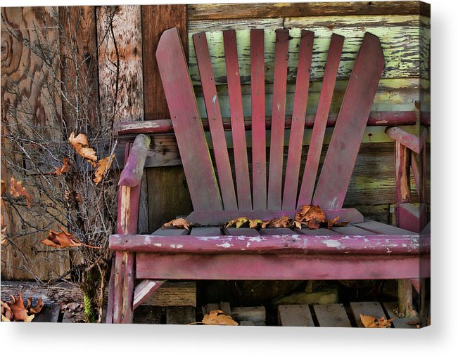 Adirondack Chair Acrylic Print featuring the photograph Yesterday's Chair by Bonnie Bruno