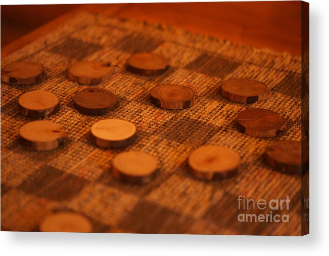 Draughts Acrylic Print featuring the photograph Your Move by Linda Shafer