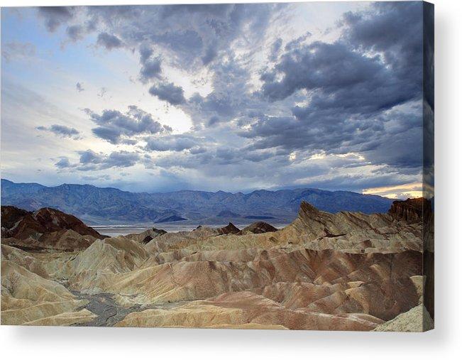 Zabriskie Acrylic Print featuring the photograph Zabriskie Point Twilight Death Valley by Pierre Leclerc Photography