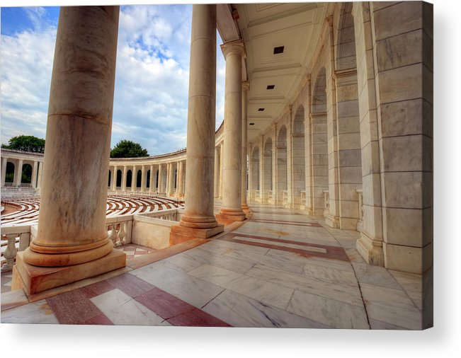 Craig Fildes Photography Acrylic Print featuring the photograph Arlington National Cemetery Memorial Amphitheater by Craig Fildes