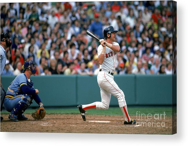 1980-1989 Acrylic Print featuring the photograph Boston Red Sox 1 by Rich Pilling