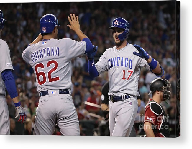 Three Quarter Length Acrylic Print featuring the photograph Chicago Cubs V Arizona Diamondbacks 1 by Christian Petersen
