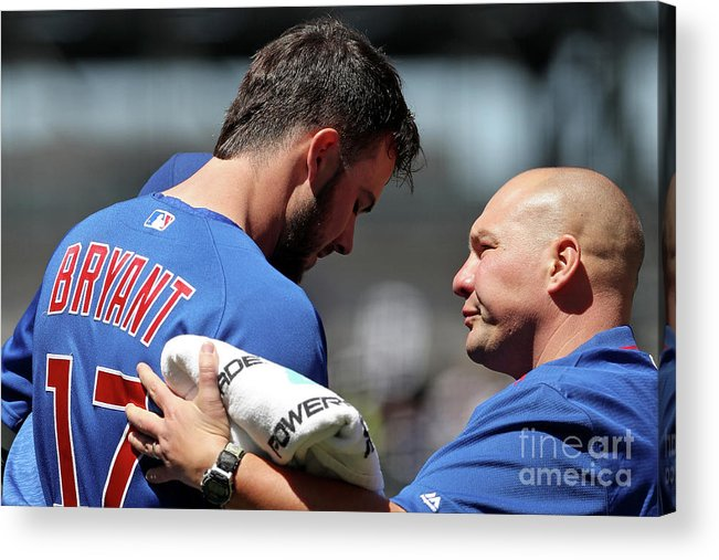 People Acrylic Print featuring the photograph Chicago Cubs V Colorado Rockies 1 by Matthew Stockman