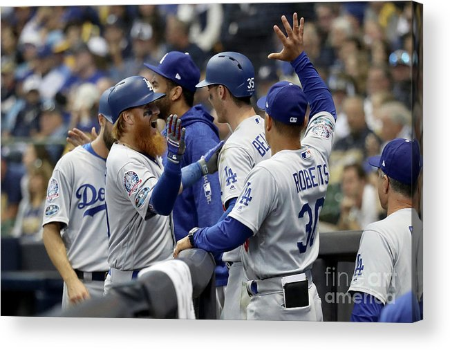 Game Two Acrylic Print featuring the photograph League Championship Series - Los by Rob Carr