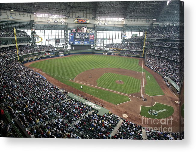 Wisconsin Acrylic Print featuring the photograph Pittsburg Pirates V Milwaukee Brewers by Jonathan Daniel