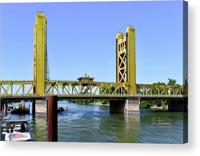 Old Town Sacramento Acrylic Print featuring the photograph The Tower Bridge by Jim Thompson