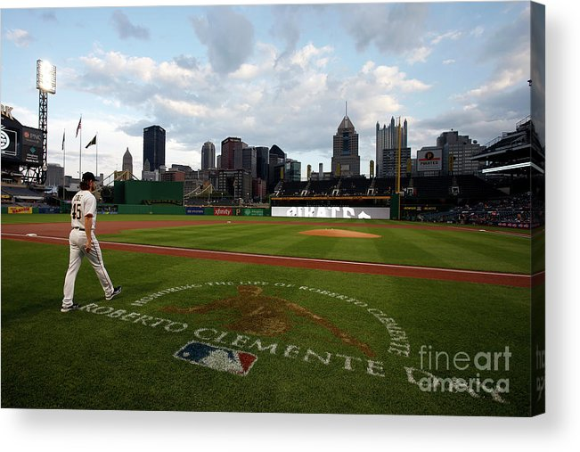 People Acrylic Print featuring the photograph Chicago Cubs V Pittsburgh Pirates 11 by Justin K. Aller