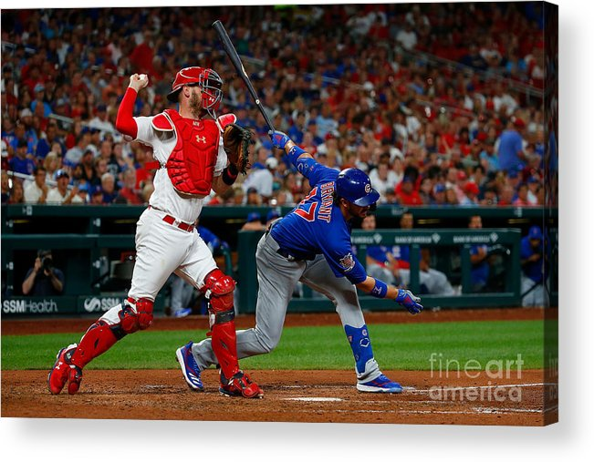 People Acrylic Print featuring the photograph Chicago Cubs V St Louis Cardinals 11 by Dilip Vishwanat