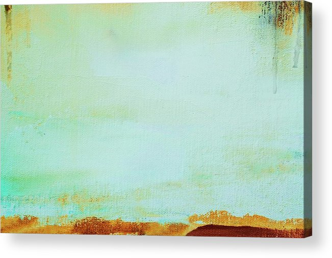 Abstract Painted Green Art Backgrounds Acrylic Print