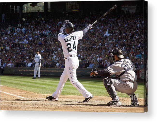 American League Baseball Acrylic Print featuring the photograph New York Yankees V Seattle Mariners by Otto Greule Jr
