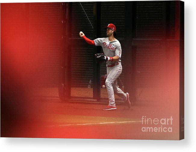 People Acrylic Print featuring the photograph Philadelphia Phillies V Arizona 14 by Christian Petersen