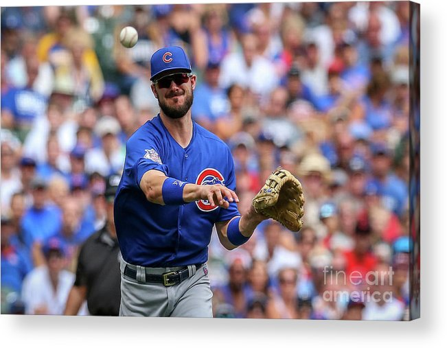 Three Quarter Length Acrylic Print featuring the photograph Chicago Cubs V Milwaukee Brewers 16 by Dylan Buell