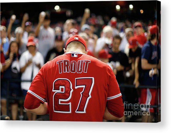 People Acrylic Print featuring the photograph Los Angeles Angels Of Anaheim V Arizona 18 by Christian Petersen