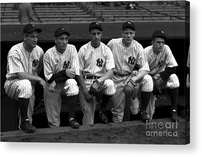 People Acrylic Print featuring the photograph 1937 World Series - New York Giants V 1937 by Kidwiler Collection