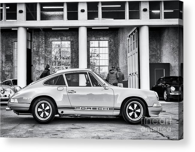 1972 Acrylic Print featuring the photograph 1972 Porsche 911 Monochrome by Tim Gainey