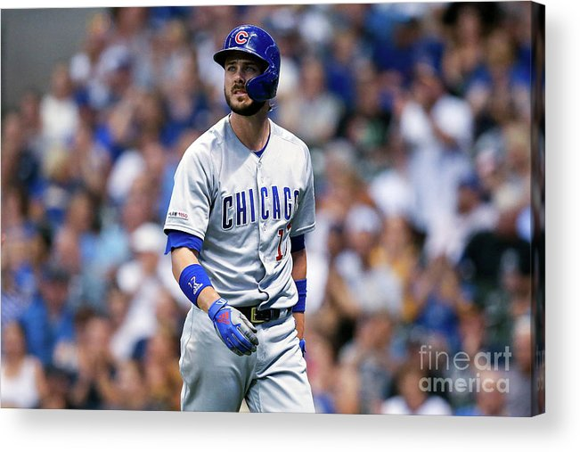 Three Quarter Length Acrylic Print featuring the photograph Chicago Cubs V Milwaukee Brewers 2 by Dylan Buell