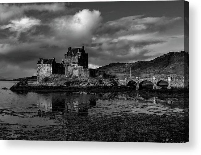 Eilean Donan Castle Acrylic Print featuring the mixed media Eilean Donan Castle by Smart Aviation