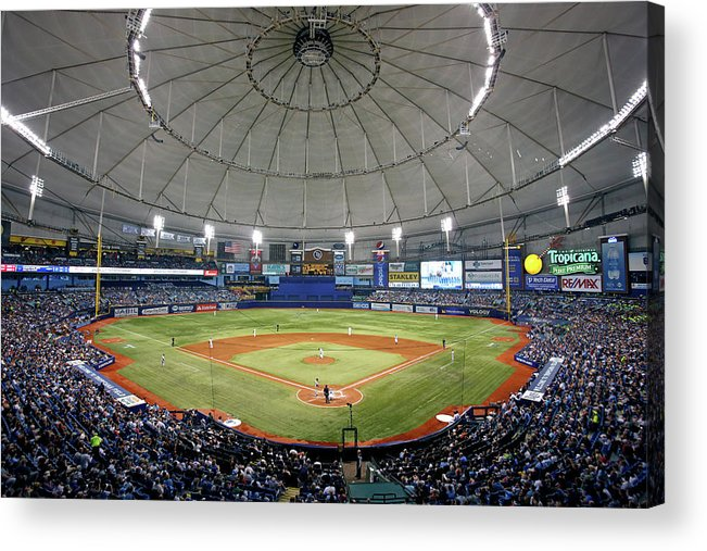 American League Baseball Acrylic Print featuring the photograph New York Yankees V Tampa Bay Rays by Brian Blanco