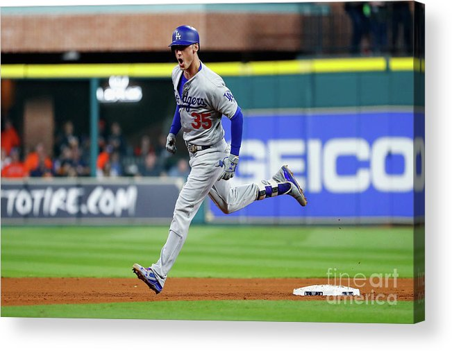 People Acrylic Print featuring the photograph World Series - Los Angeles Dodgers V 2 by Jamie Squire