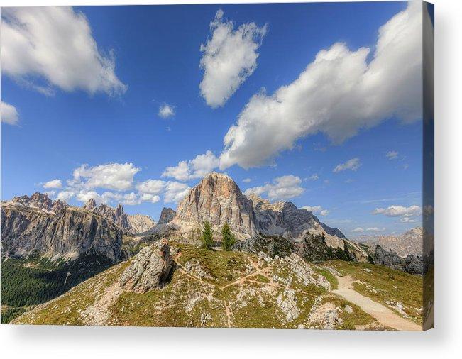 Cinque Torri Acrylic Print featuring the photograph Cinque Torri, Dolomites - Italy by Joana Kruse