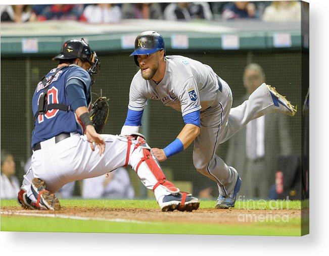 Baseball Catcher Acrylic Print featuring the photograph Kansas City Royals V Cleveland Indians 26 by Jason Miller