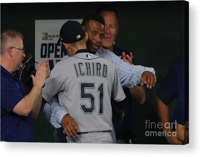 International Match Acrylic Print featuring the photograph 2019 Opening Series Oakland Athletics 3 by Alex Trautwig