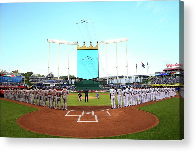American League Baseball Acrylic Print featuring the photograph Division Series - Los Angeles Angels Of by Jamie Squire