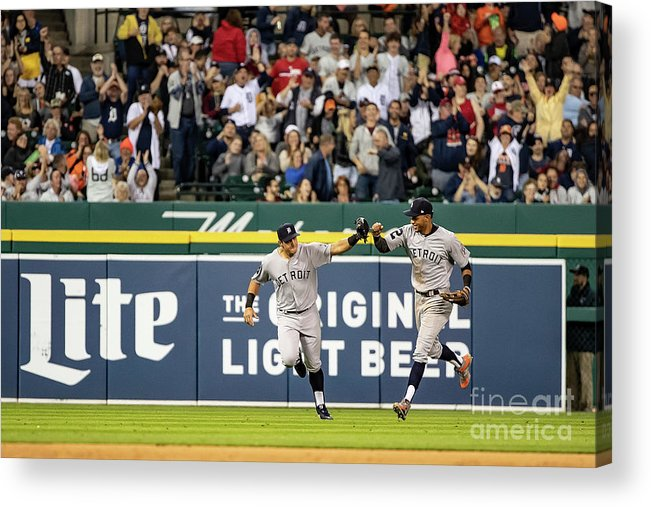 People Acrylic Print featuring the photograph St. Louis Cardinals V Detroit Tigers 3 by Dave Reginek