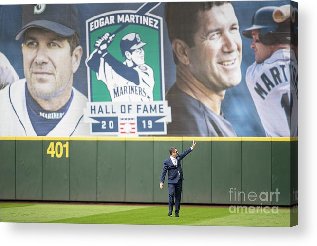 Crowd Acrylic Print featuring the photograph Tampa Bay Rays V Seattle Mariners by Stephen Brashear