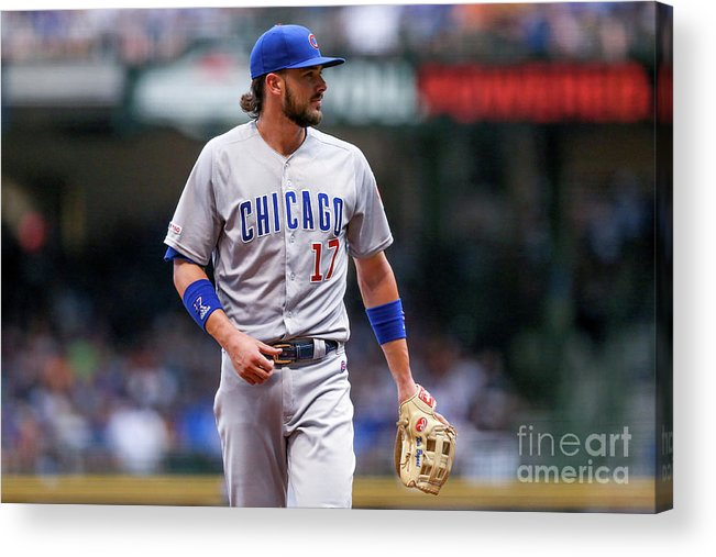 Three Quarter Length Acrylic Print featuring the photograph Chicago Cubs V Milwaukee Brewers 6 by Dylan Buell