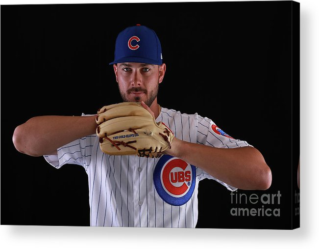 Media Day Acrylic Print featuring the photograph Chicago Cubs Photo Day 7 by Gregory Shamus