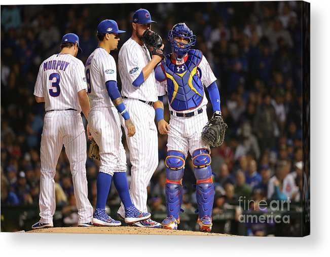 Playoffs Acrylic Print featuring the photograph National League Wild Card Game Colorado by Alex Trautwig