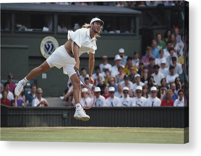 Tennis Acrylic Print featuring the photograph Andre Agassi by Bob Martin