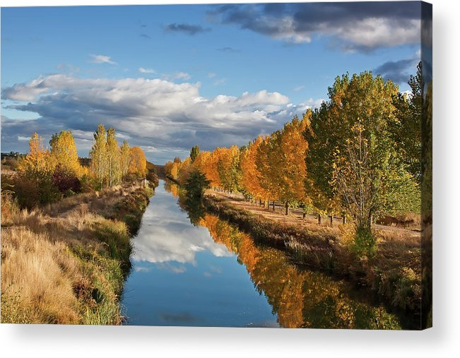 Scenics Acrylic Print featuring the photograph Autumn Reflection by Miguel Calleja Diez