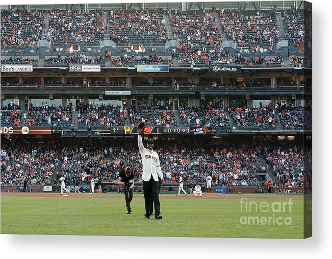 Event Acrylic Print featuring the photograph Barry Bonds San Francisco Giants Number by Pool