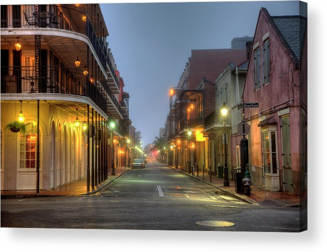 Built Structure Acrylic Print featuring the photograph Bourbon Street by Denistangneyjr
