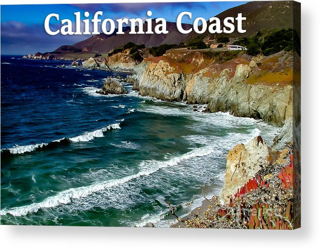 California Acrylic Print featuring the photograph California Coast In Mendocino County by G Matthew Laughton