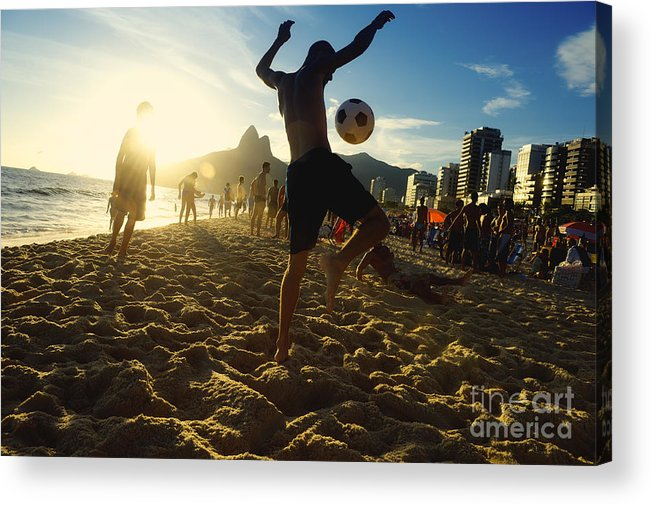 Unrecognizable Acrylic Print featuring the photograph Carioca Brazilians Playing Altinho by Lazyllama