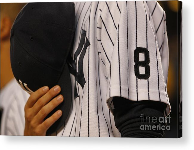 American League Baseball Acrylic Print featuring the photograph Chicago White Sox V New York Yankees by Richard Schultz