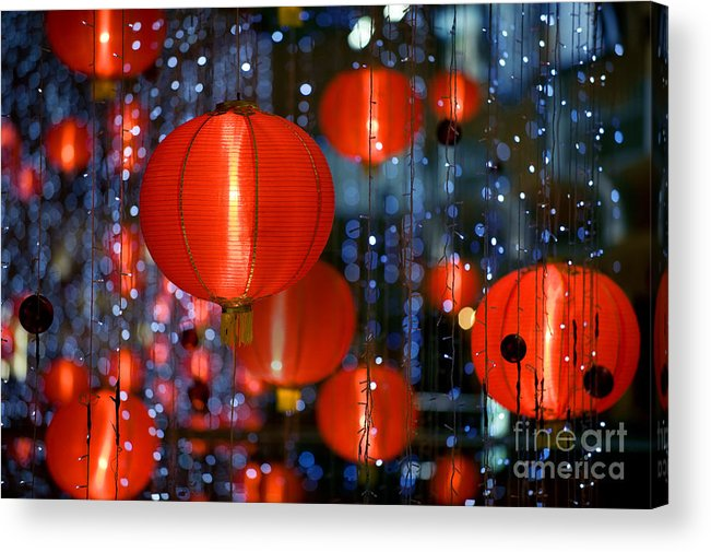 Shot Acrylic Print featuring the photograph Chinese Paper Lantern Shallow Depth Of by Beltsazar