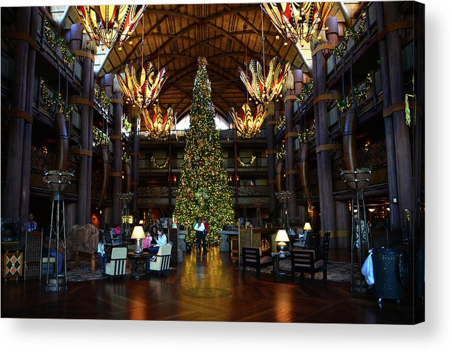 Christmas Acrylic Print featuring the photograph Christmas At The Ak Lodge by David Lee Thompson