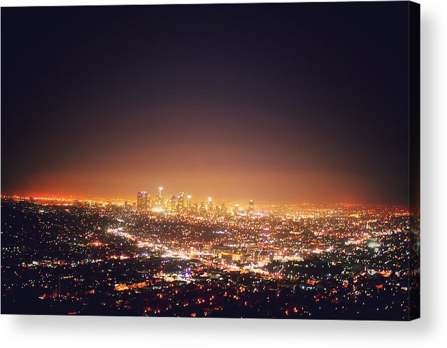 California Acrylic Print featuring the photograph Citscape At Night by I Want To Experience The World. The Sceneries. The Cultures.