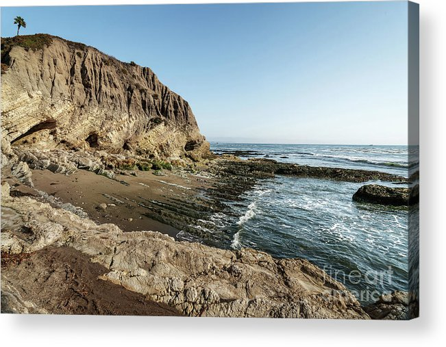Landscape Acrylic Print featuring the photograph Cliff In The Ocean by Hanna Tor